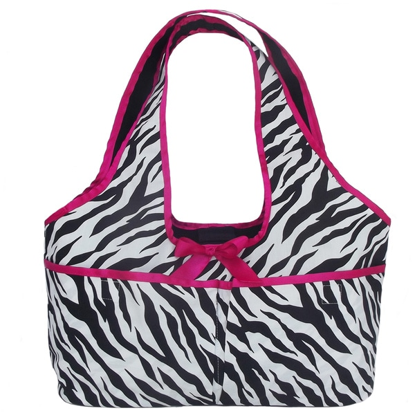 AnnLoren Zebra Printed Doll Carrier Tote for 18-inch Dolls