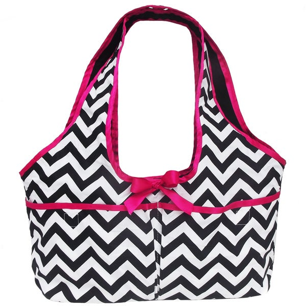AnnLoren Chevron Print Doll Carrier Tote for 18-inch Dolls