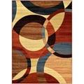 Manhattan Collection Multi-Color Circles Design Area Rug (5'3 x 7'3)