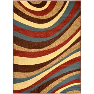 Manhattan Collection Multi-Color Contemporary Weaves Design High Quality Area Rug (5'3 x 7'3)