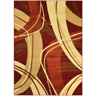 Manhattan Collection Multi-Color Contemporary Abstract Design High Quality Area Rug (5'3 x 7'3)