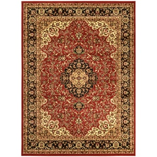 Sapphire Collection Dark Red Traditional Oriental Medallion Design High Quality Area Rug (5'3 x 7'3)