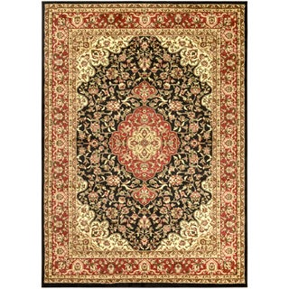 Sapphire Collection Black Traditional Oriental Medallion Design High Quality Area Rug (5'3 x 7'3)