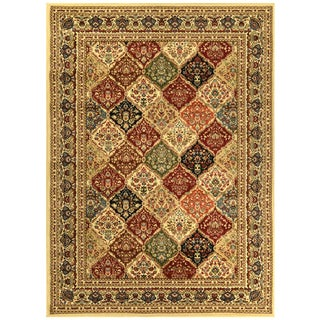 Sapphire Collection Beige, Multi-Color Traditional Oriental Design High Quality Area Rug (5'3 x 7'3)