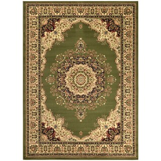 Sapphire Collection Green Traditional Oriental Design High Quality Area Rug (5'3 x 7'3)