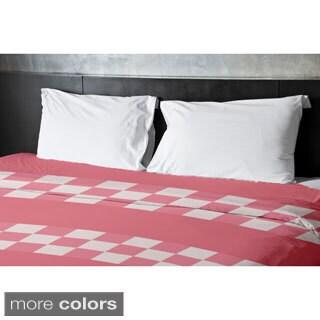 68 x 88-inch Tri-tone Geometric Duvet Cover