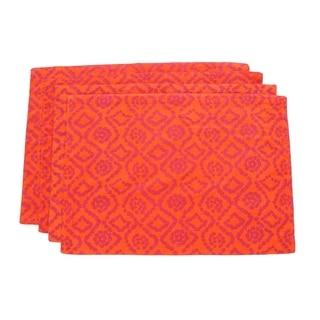 Orange Bandhini Placemats (India)