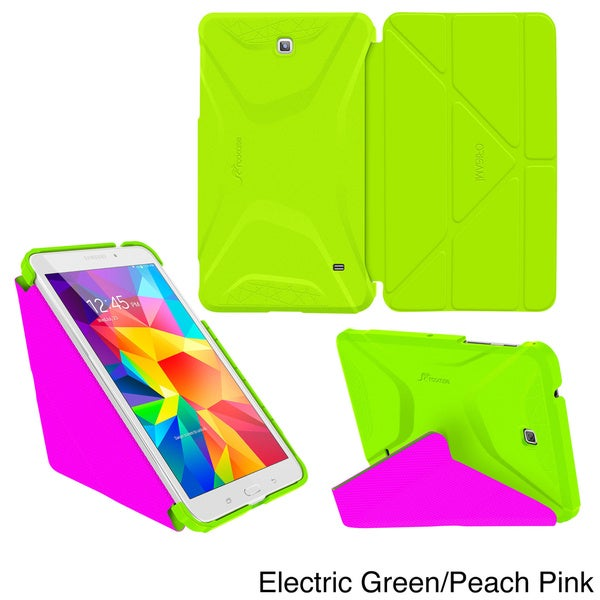 rooCASE Origami 3D Slim Shell Folio Case Smart Cover for Samsung Galaxy Tab 4 8.0 SM-T330 (As Is Item)