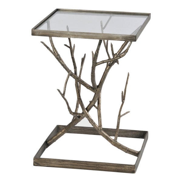 Synthesis Antique Silver Accent Table