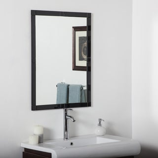 Frameless Black Beveled Kinana Mirror