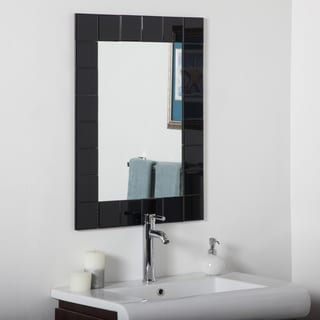 Montreal Black Modern Bathroom Mirror