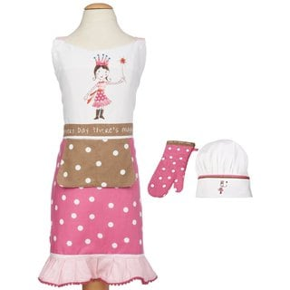 MUkitchen MiniMu Princess Kids 3-piece Apron Set