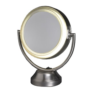 Lighted 15X Magnification Vanity Mirror