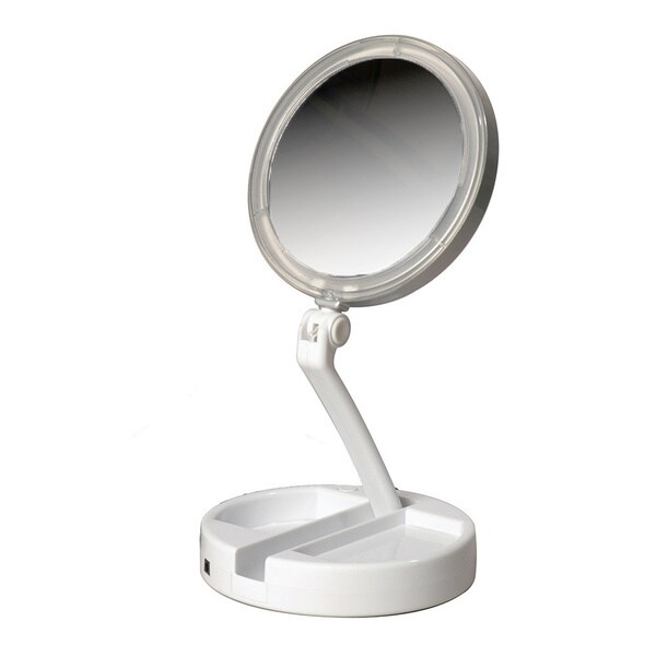 LED Lit Folding Vanity 12x Magnification