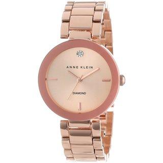 Anne Klein Women's AK-1362RGRG Rose Goldtone Diamond-accented Watch