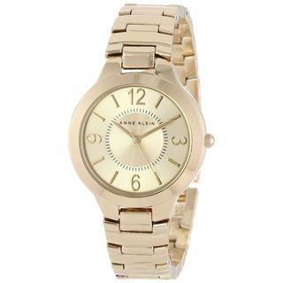 Anne Klein Women's AK-1450CHGB Everyday Classics Goldtone Watch