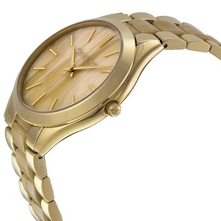 Michael Kors Women's MK4285 Slim Runway Horn Goldtone Watch
