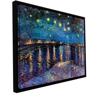 Vincent van Gogh 'Starry Night Over the Rhone' Floater-framed Gallery-wrapped Canvas