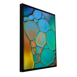 Cora Niele 'Connected II' Floater-framed Gallery-wrapped Canvas