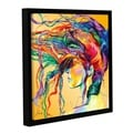 Linzi Lynn 'Windswept' Floater-framed Gallery-wrapped Canvas