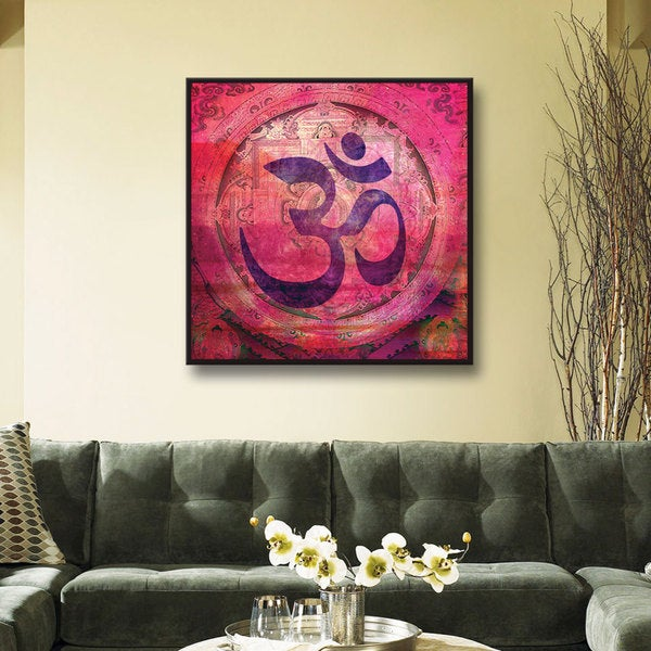 Elena Ray 'Om Mandala' Floater-framed Gallery-wrapped Canvas 22108720