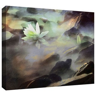 Dean Uhlinger 'Lily in rocks' Gallery-wrapped Canvas