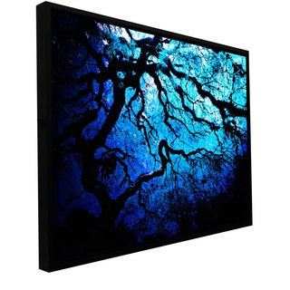 John Black 'Japanese Ice Tree' Floater-framed Gallery-wrapped Canvas