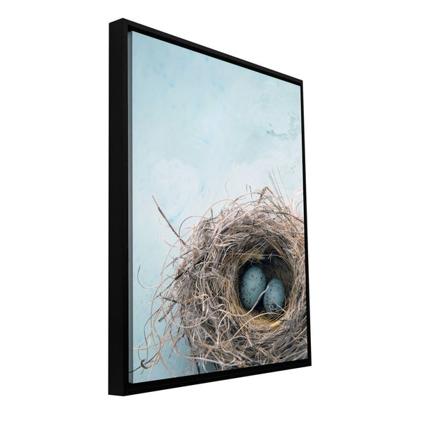 Elena Ray 'Blue Nest' Floater-framed Gallery-wrapped Canvas 22108734