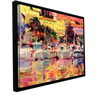 Peter Graham 'Golden Harbour Vista' Floater-framed Gallery-wrapped Canvas
