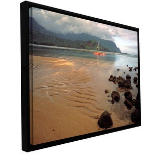 Kathy Yates 'Hanalei Bay at Dawn' Floater-framed Gallery-wrapped Canvas