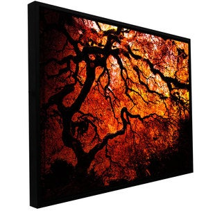 John Black 'Fire Breather: Japanese Tree' Floater-framed Gallery-wrapped Canvas