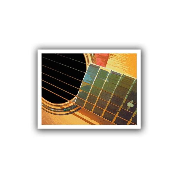 Dean Uhlinger 'Impresion de la Guitarra' Unwrapped Canvas