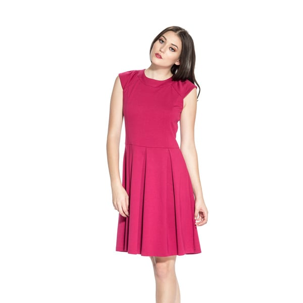Amelia Women's Cap Sleeve Fit-and-Flare Dress