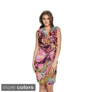 Amelia Women's Galaxy Print Side-twist Dress