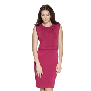 Amelia Women's Pleated Neck Sheath Dress