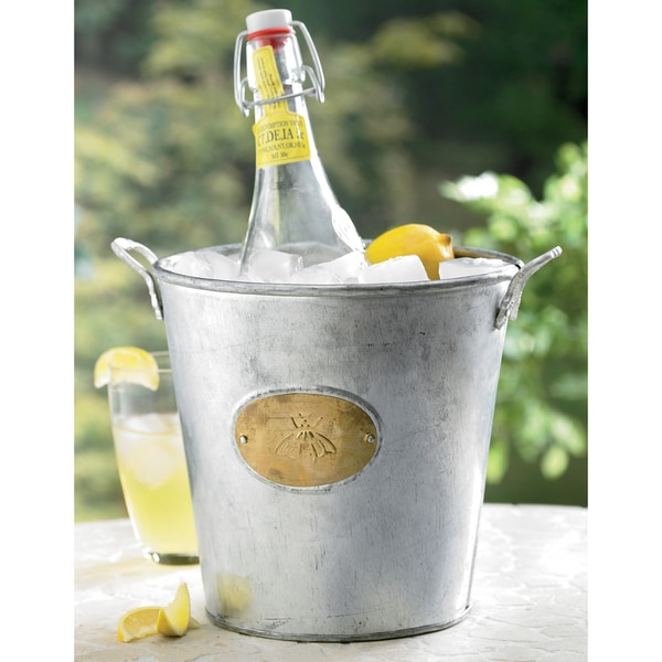 Galvanized Bumble Bee Bucket