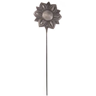 Handcrafted Recycled Steel Drum Star Flower Garden Stake (Haiti)