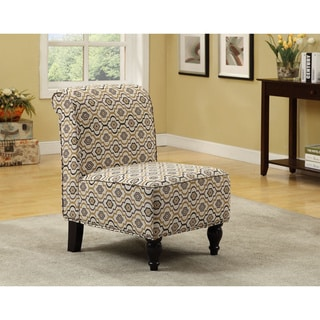 Fabric Earth-tone Traditional Morrocan Design Accent Chair