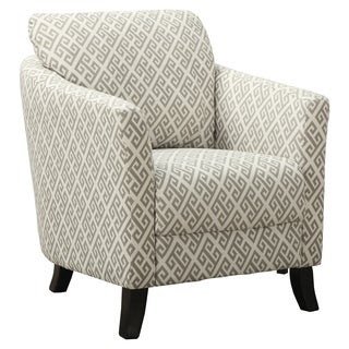 Sandstone and Grey Maze Fabric Accent Chair