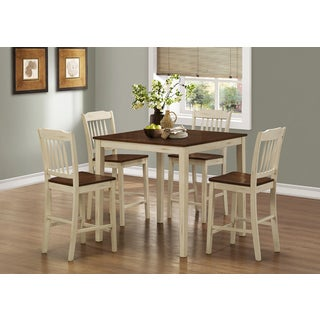 Antique White/ Walnut 5-piece Counter Height Dining Set