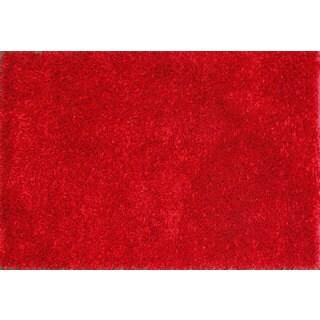 Red-orange Solid Shag Rug (2'4 x 3'10)