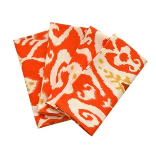 Orange Ikat Dinner Napkin