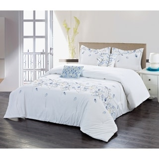 Filigree Leaf 5-piece Comforter Set