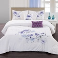 Floral Spray 5-piece Cotton Comforter Set