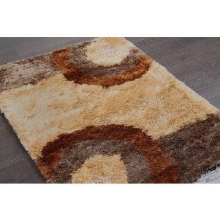 Embellishing Shag Rug in Beige and Brown (2'10 x 5')