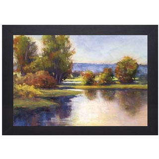 Amanda Houston 'Lake View 1' Framed Artwork