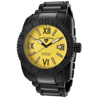 Swiss Legend Men's SL-10059-BB-77 'Commander' Yellow Watch