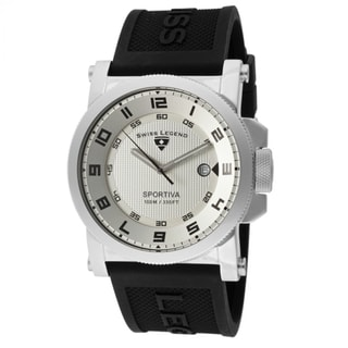 Swiss Legend Men's SL-40030-02S 'Sportiva' Black Silicone Watch