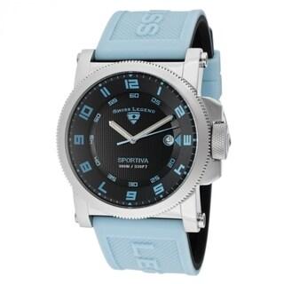 Swiss Legend Men's SL-40030-01-BBLAS 'Sportiva' Light Blue Silicone Watch