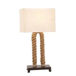 La Jolla Nautical Rope Pier Metal Table Lamp